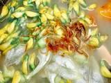 Canh chua cá Linh - bông Điên Điển bước làm 5 hình