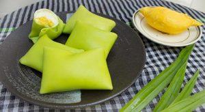 Bước 6 Thành phẩm Bánh Crepe lá dứa nhân kem sầu riêng